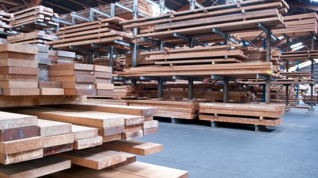 a pile of wood