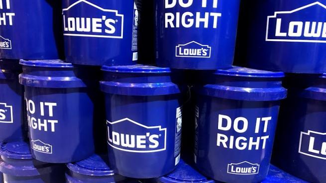 Lowe's buckets