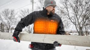 a person riding a snow board
